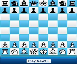 Spil skak Chess ChessGame. Spil skakspillet med dine venner online eller mod en tilfældig menneskelig modstander. Billede af et digitalt skakbræt